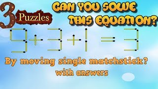 3 Puzzles | Can you solve these 3 simple puzzles? |  99 % People fail to solve these | #6