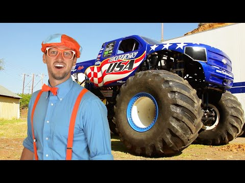 blippi-learns-shapes,-colors,-numbers-with-monster-trucks-&-the-monster-truck-song-|-educational