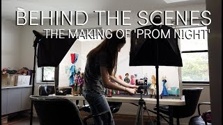 THE MAKING OF MY 'PROM NIGHT' STOP MOTION: How I Film Stop Motions & Make Sets In My Studio!