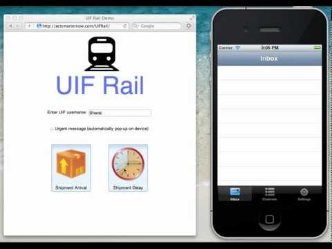 MQTT on iPhone - UIF Rail Demo on iOS 5.1