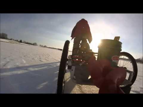 Fat bike ice fishing sled