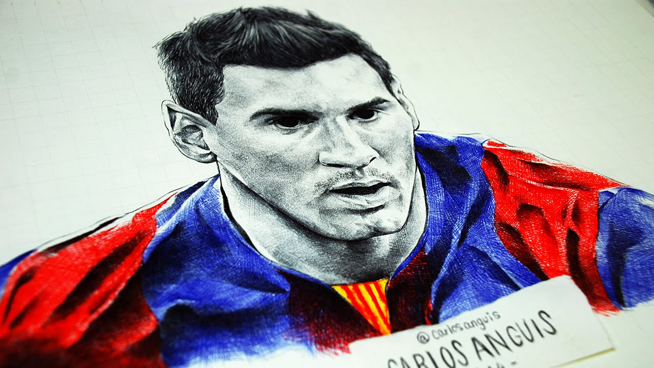 Drawing Messi Dibujando a Messi  YouTube