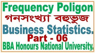 Frequency polygon, Arrenging Data And Plots, Bangla tutorial Part- 6