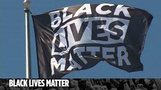 Black Lives Matter Flag Flying At Levi's Stadium