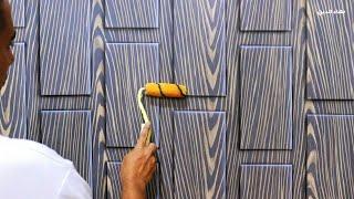 Decoración de madera solo con pintura Decoración de pared  creatividad