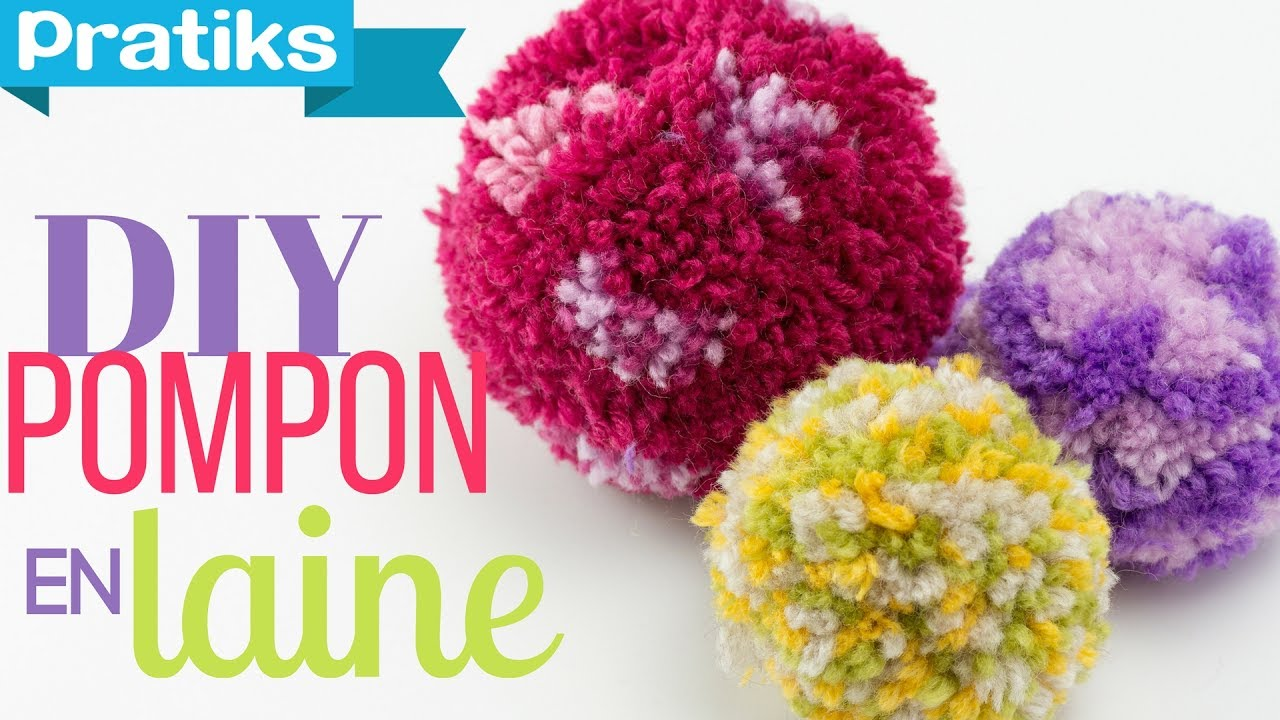 Comment Faire Un Pompon En Laine Youtube