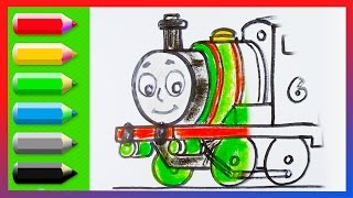 How to Draw Percy the Small Engine ♦ Thomas and Friends ♦  Animated Drawing Tutorial
