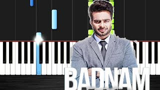 BADNAM  - Mankirt Aulakh - Piano by VN