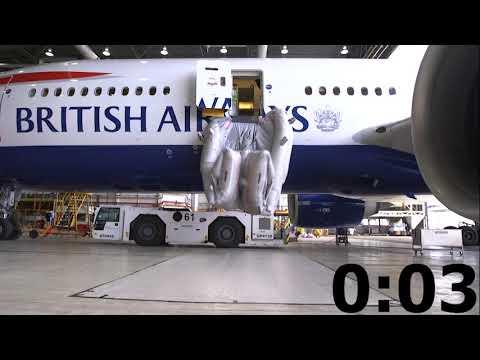 British Airways Aircraft Slide Deploy
