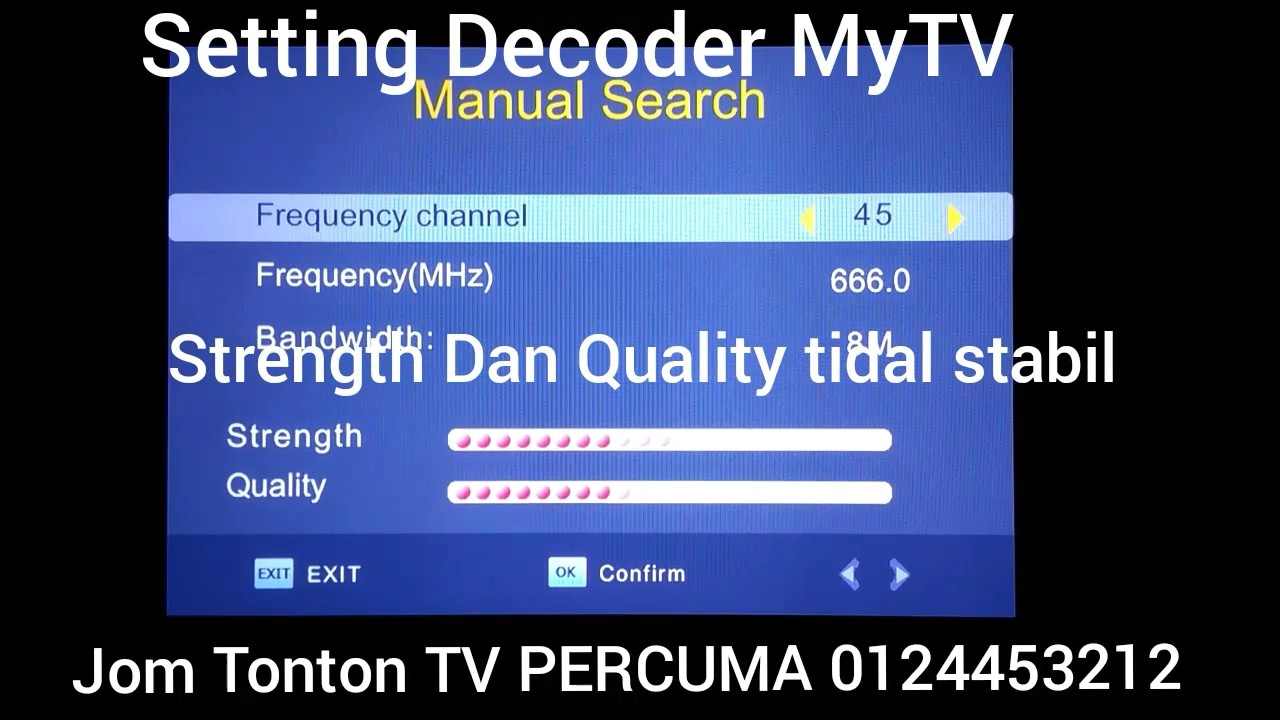MyTV Manual Program Search