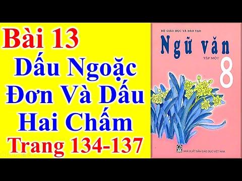 Ngữ Văn Lớp 8 Bài 13 – Dấu Ngoặc Đơn Và Dấu Hai Chấm – Trang 134 - 137