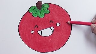 Dibujando y coloreando a Tomate Alegre - Drawing and coloring Tomato Alegre