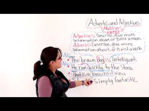 Adverbs And Adjectives As Modifiers