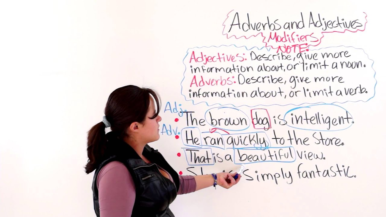 Adverbs And Adjectives As Modifiers Youtube