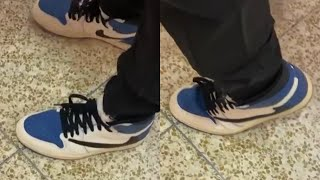 Creasing Travis Scott x Fragment x Nike Air Jordan 1 High 😳