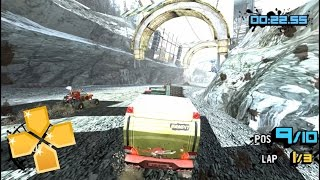 Motorstorm Arctic Edge Glitchy PPSSPP 1.2.2 Gameplay Full HD / 60FPS