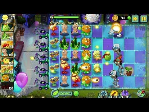 Plants vs. Zombies 2 Android Gameplay  -  Neon Mixtape #1