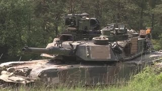 US Army - M1A2 SEP V2 Main Battle Tanks At Exercise Combined Resolve II [1080p]