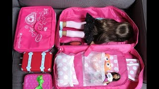 American Girl Doll Packing  For Vacation!