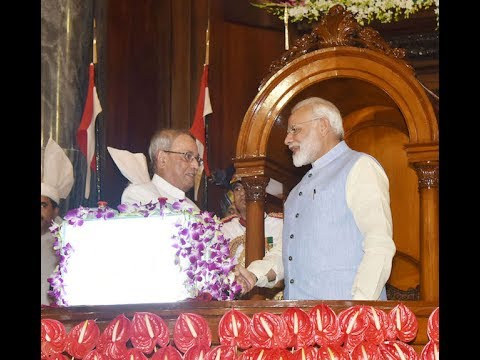 PM Modi at the Launch of Goods & Service Tax (GST) in the Central Hall of Parliament