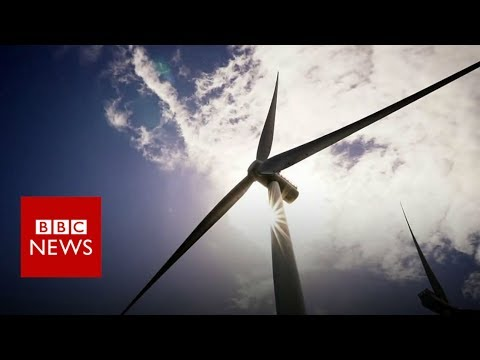 World's first floating offshore wind farm in Scotland.- BBC News