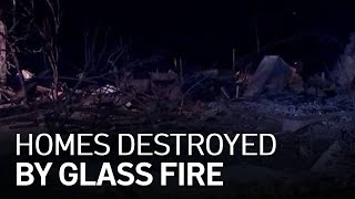 Dozens of Santa Rosa Homes Destroyed by Glass Fire