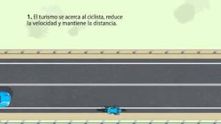 Como adelantar a un ciclista con linea continua