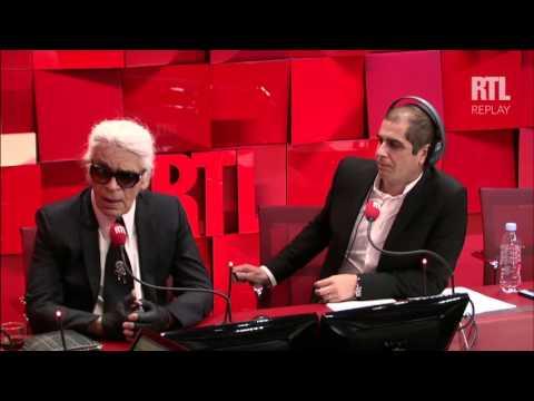Karl Lagerfeld invité d'A la bonne heure du Mardi 29 Septembre 2015 - partie 1 - RTL - RTL