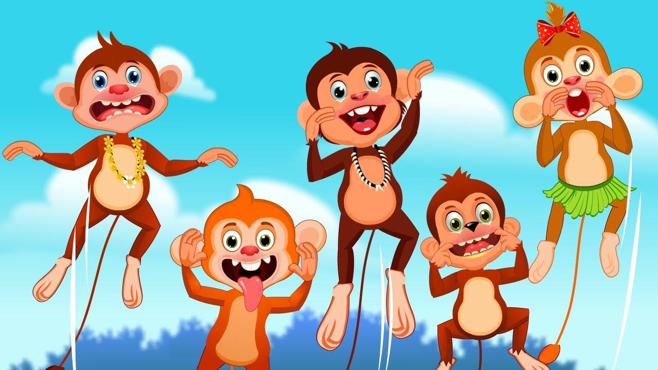 NEW Five Little Monkeys Jumping on the Bed | Baby Hazel ...