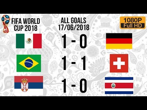 Recap for all goals scored in today's world cup fixtures - matchday 4 (17/06/2018)