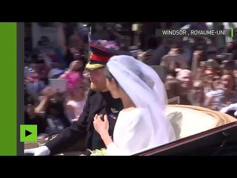Royaume-Uni : la procession du mariage royal entre le prince Harry et Meghan Markle