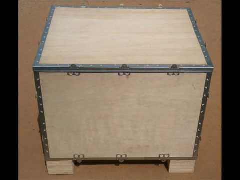 Collapsible foldable nailless plywood boxes - YouTube