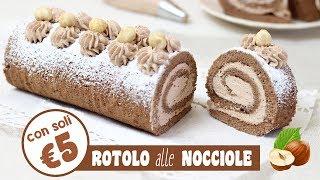 ROTOLO ALLE NOCCIOLE CON MENO DI 5€ + spesa al supermercato | roll with nuts | RICETTA FACILE