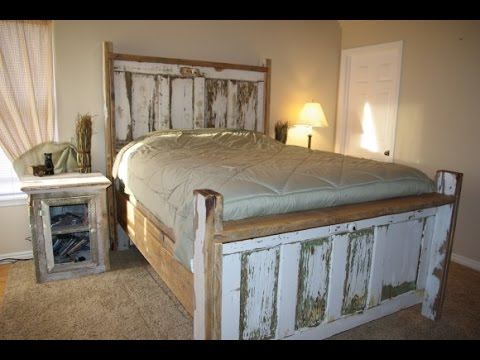 Exquisite Reclaimed Wood Bed Frame Design Ideas