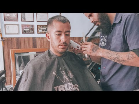 SUPER RELAXING BRAZILIAN BARBER HAIRCUT - 40 MINUTES : ASMR - NO TALKING (Nomad Barber)
