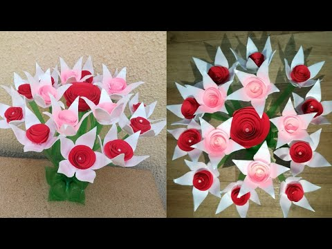 DIY Guldasta Design // Guldasta From Plastic Bottle and Disposable Paper Plate// Best Out of Waste