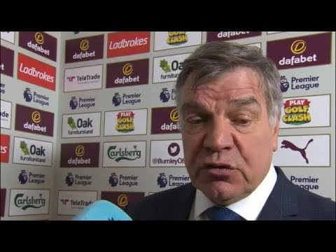 Sam Allardyce post match reaction interview | Burnley 2-1 Everton | Premier League