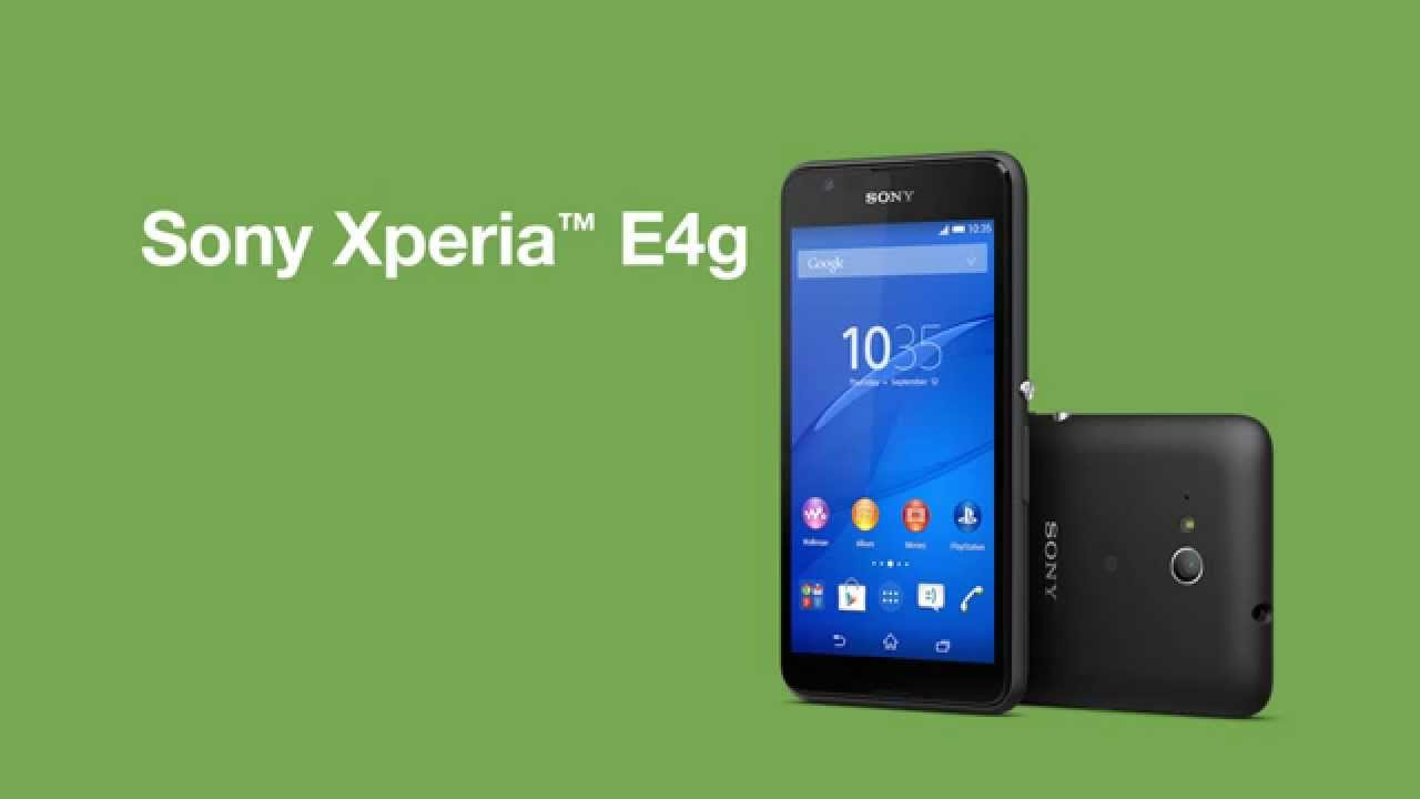 Sony Xperia E4g: with 4G LTE connectivity and dual SIM