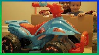 Іграшка 6 вольт квадроциклів ATV розпакування, огляд і тест | брати Р сім'я нам весело з класними іграшками!
