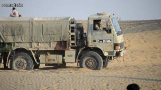 Indian Army 4x4 Truck Off Roading At Sam Sand Dunes, Jaisalmer (2015-02-03)