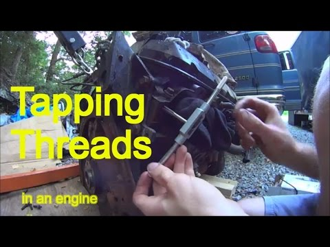 Drill & Tap New Threads in Engine Block - Broke Exhaust Stud in Head - How  to Use Tap & Die