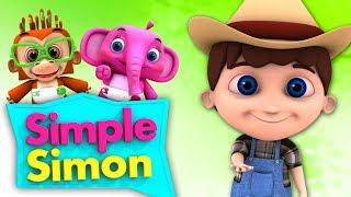Простой Симон | песни для детей | детские рифмы | Simple Simon | Nursery Rhymes And Songs