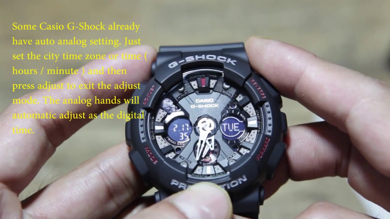 58ce990494f5 Casio G-Shock Basic Setting ( GA-120 ) - YouTube