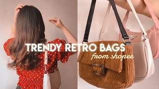 SHOPEE TRENDY BAGS HAUL + TRY ON! Affordable & cute finds! *chefs kiss* | Sittie Saheda