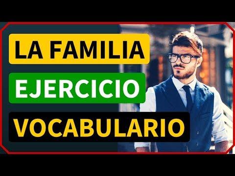 La Familia en inglés: Ejercicios de vocabulario en inglés de los miembros de la familia # 1