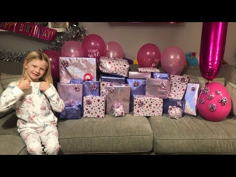 OLIVIA'S 7TH BIRTHDAY MORNING OPENING PRESENTS