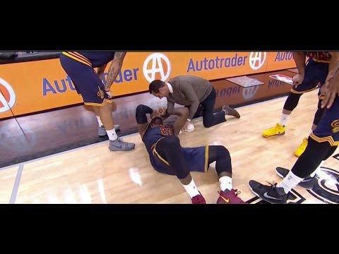 LeBron James Injured by David Lee