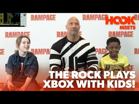 "DWAYNE ""THE ROCK"" JOHNSON PLAYS XBOX 360 WITH KIDS 