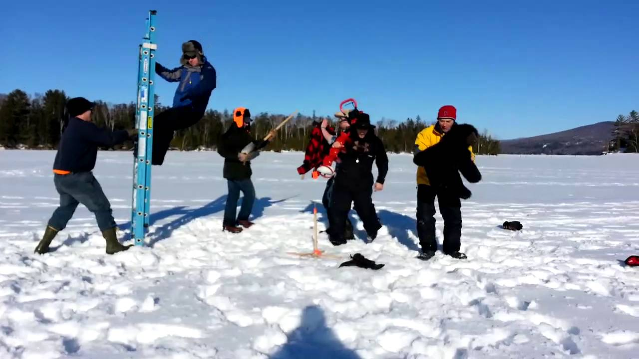 Ice fishing edition harlem shake in maine youtube for Ice fishing maine