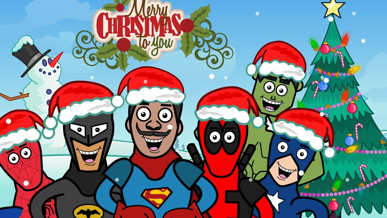 Christmas Song With Superheroes - Deck the Halls 2016 - YouTube